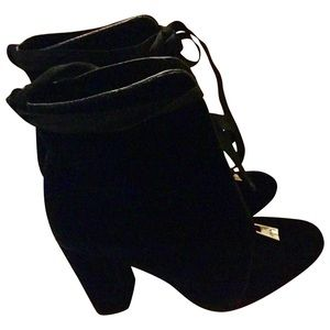 Zara Shoes - Zara Blue Velvet Booties